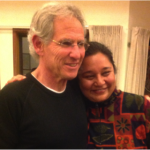 Geeta with her teacher and MBSR founder Jon Kabat-Zinn at Mt. Madonna, CA in March 2014.
